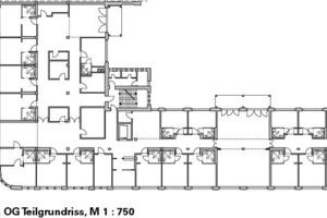 2.OG Teilgrundriss, M 1:750