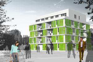 Mit zukunftsweisenden Raumkonzepten und dem visionären Energiekonzept sollen im BIQ ab März 2013 Wohnvisionen Wirklichkeit werden<br />