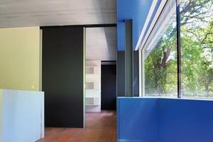 Alle Innentüren, Fenstertüren und Fensterflügel im Haus sind Schiebe-Elemente