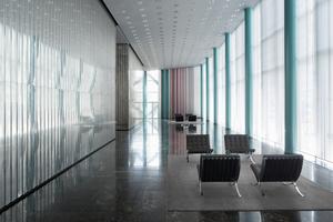 Das Foyer des Dreischeibenhauses steht unter Denkmalschutz