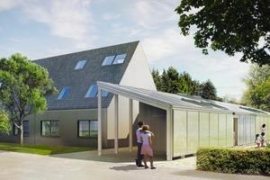 Das LichtAktiv Haus nutzt effizient Energie und Raum, der Wohnraum öffnet sich zum Garten hin<br />