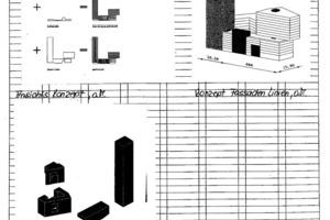 Konzept Fassaden Linien, o.M.