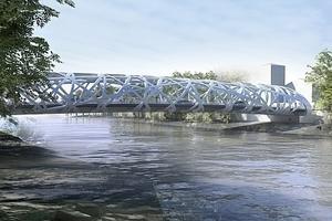 Brücke Hans Wilsdorf, Genf - Atelier d'architecture Brodbeck-Roulet, Carouge, Genf