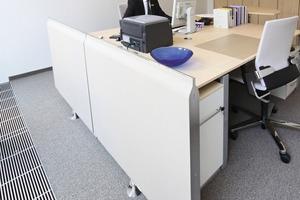 In allen Büros sind Unterflurkonvektoren mit Heizfunktion installiert. Die Grundtemperierung erfolgt über das BKT-System<br />