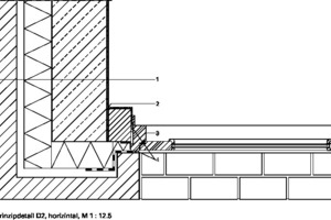 Prinzipdetail, horizontal, M 1:12,5