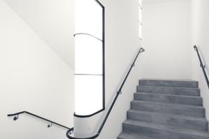 Das innenliegende Treppenhaus