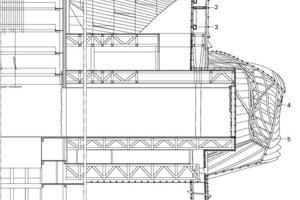 Fassadenschnitt 2, M 1:500