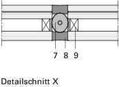 Detail Seilklemme, Detailschnitt<br />