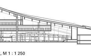 Schnitt AA, Bibliothek, M 1:1250<br />