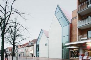 Ansicht Volksbank Gifhorn, Haupteingangsseite<br />