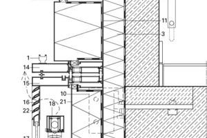 Fensteranschluss Fassadenschnitt, M 1:12,5<br />