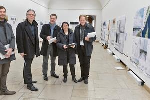 Die Jury des BDB Studentenförderpreises 2015. V.l.n.r.: Thomas Schneider, Christoph Schild, Detlef Kurth, Annette Detzel und Burkhard Fröhlich