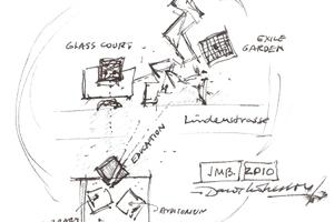 Skizze der Gesamtsituation mit Akademie und Jüdischem Museum