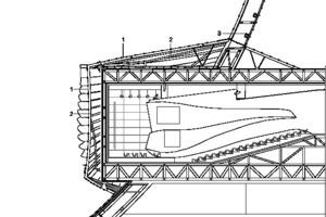 Fassadenschnitt 1, M 1:500