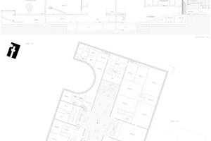 Im Grundriss und Schnitt kann man Vorgängerentwürfe für Museen der Basler erkennen ... unten der Anschluss an die Nationalgalerie