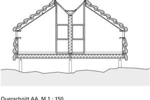 Querschnitt AA, M 1:150<br />