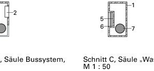 Schnitt BB, Säule Bussystem, M 1:50<br />