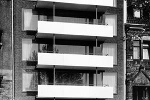 """Ein Anfang: Wohnhaus Achenbachstraße, Düsseldorf, 1959"""" (RKW)<br />"""