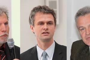 Prominenz in Darmstadt (v.l.): Prof. Dr. Moriske, Umweltbundesamt, Peter Bachmann, <br />Sentinal-Haus Institut GmbH, Prof. Dr. Wirth, TU Darmstadt<br /><br />