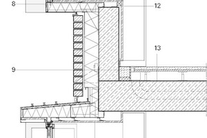 Fassadenschnitt Zick Zack Fenster, M 1:33 <sup>1</sup>/3