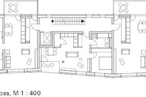 Ausschnitt Regelgeschoss, M 1:750