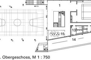 Grundriss 1. Obergeschoss, M 1:750<br />