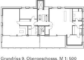 Grundriss Dachgeschoss M 1:500