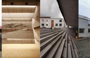 Mitten im Bayrischen Wald ein Konzerthaus am neuen Dorfplatz mit zeitgenössischer Randbebauung