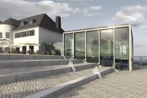 Visualisierung Neubau Drachenfelsplatteau, Sitzstufenanlage<br />