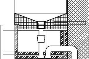 Detail Waschbecken, M 1:10