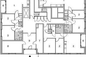Grundriss Erdgeschoss, Block C, M 1:333<sup>1</sup>/3
