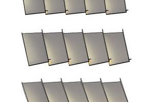 Die Lamellen sind im Abstand (Raster) von 10cm mit LED´s versehen. LED-Lichtbänder an den Innenkanten betonen die Verformungsvorgänge