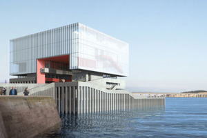 Sutherland Hussey. Das V&A Team unter der Führung von Sutherland Hussey umfasst noch 3DReid Architects, AECOM, Morham & Brotchie, Gross Max und KSLD, alle Schottland