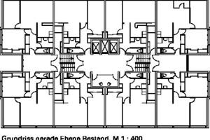 Grundriss gerade Ebene Bestand, M 1:400
