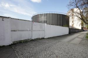 Nordansicht des Geländes mit dem zukünftigen Werkbundhaus<br />