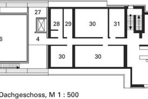 Grundriss Dachgeschoss, M 1:500