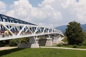 Fuß- und Radwegbrücke über die Donau bei Deggendorf