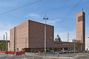 Der Neubau der Propsteikirche St. Trinitatis in zentraler Lage in Leipzig.