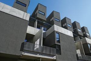 L-förmige Maisonette-Wohnungen bilden die Basis für die Reihenhäuser der obersten Geschosse<br />