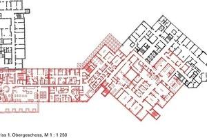 Grundriss 1.Obergeschoss, M 1:1250