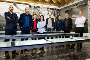 Daniel Buchner, Ludovic Balland, Ivan Weiss, Daniela Valentini, Andreas Bründler, Benedikt Schiefer, Philippe Carrard, Roger Aeschbach (v.l.n.r.)