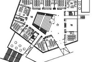Grundriss 1. Obergeschoss, M 1:750