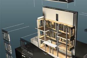 Explosionszeichnung und Konstruktionsprinzip der ersten Bauphase / Architekt: Ihsan Bilgin<br />