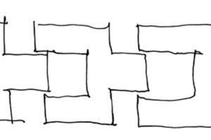 Das übergeordnete Symbol dieses Wohngruppenprojektes ist das Geben und Nehmen, welches sich subtil in der Fassaden- und Baukörpergestalt wiederfindet, wie Glieder einer Kette halten die Bewohner aneinander fest und zusammen