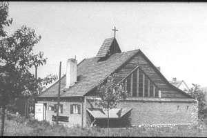 Die Cyriak-Kapelle auf dem einzigen bekannten Foto vor dem Umbau 1964