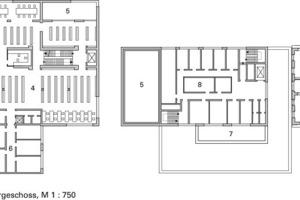 3. Obergeschoss, M 1:750<br />