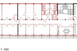 Grundriss 2. Obergeschoss Ebene, M 1:500