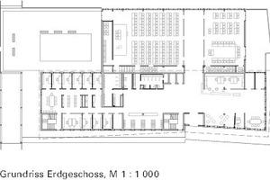 Grundriss Erdgeschoss, M 1:1000<br />