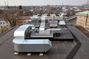 St. Petrus-Krankenhaus, Bonn: Anschluss von Aufbauten auf dem Flachdach