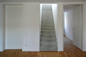 Erste Ebene Maisonette (4. OG) mit Betontreppe nach oben